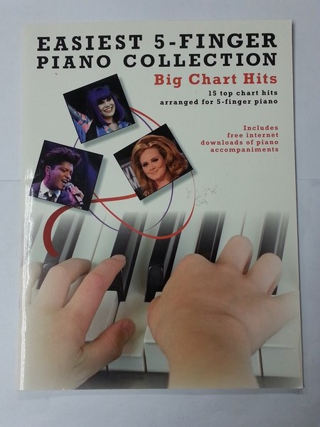Easiest 5 – Finger Piano Collection. Big Chart Hits