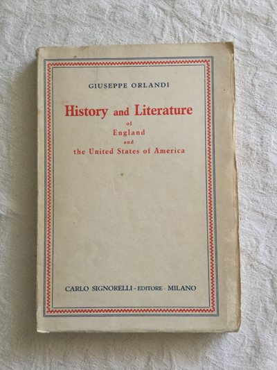 History and Literature of England and the United States of America