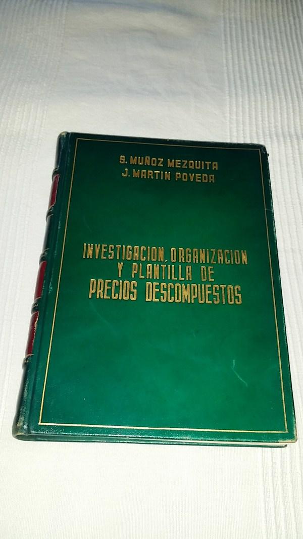 Investigacion, Organización y plantilla de precios descompuestos ...
