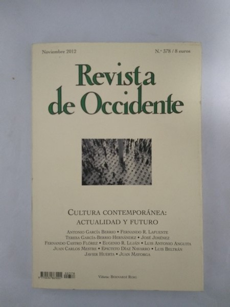 Revista de Occidente. Cultura contemporanea.